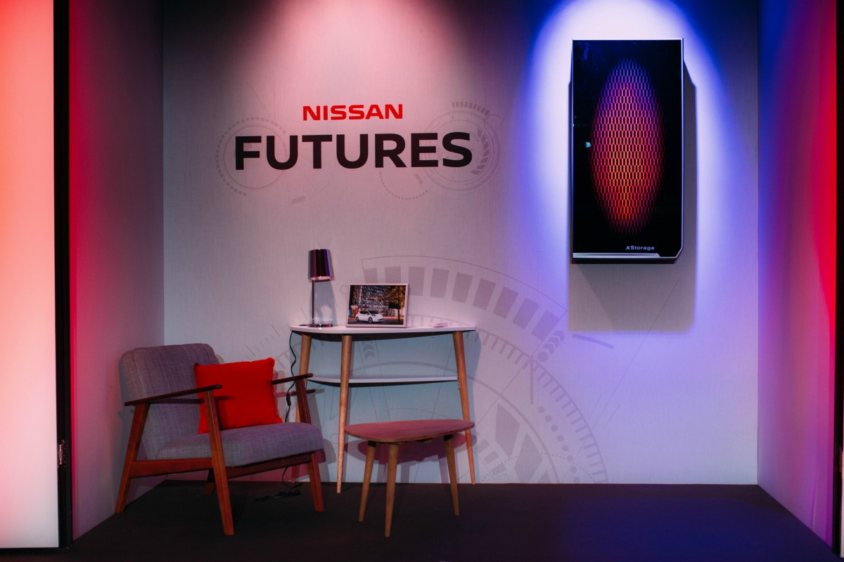 xStorage residential storage unit has been designed by Nissan to fit in the home environment