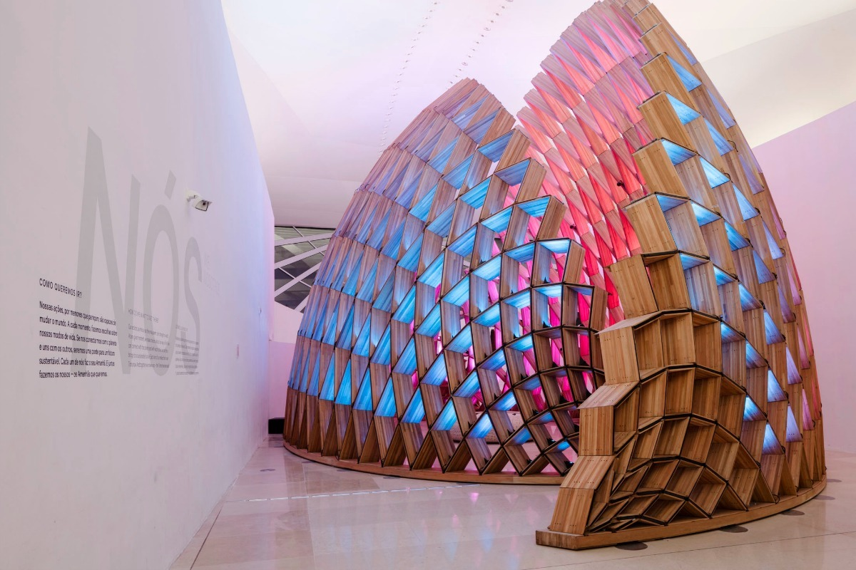 Interactive lighting at the Museu do Amanhã, the 'Museum of Tomorrow'