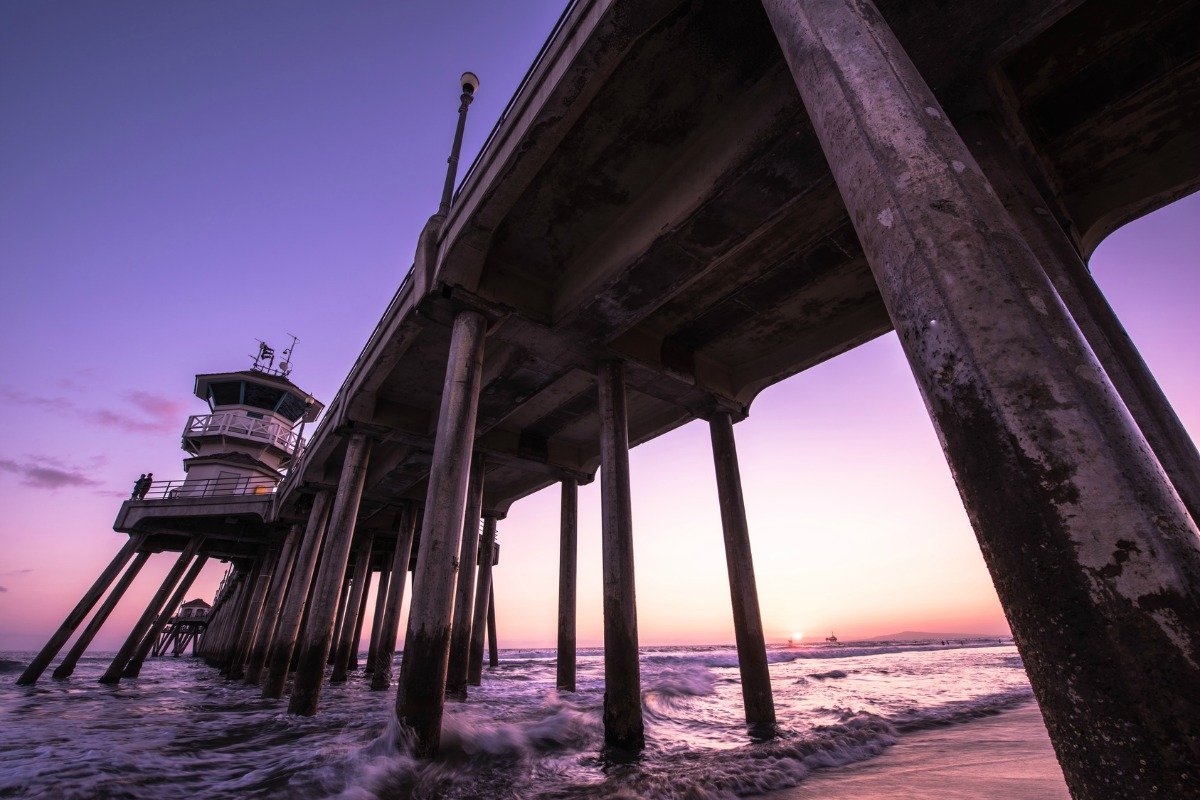 The remote monitoring platform is located off Huntington Beach in California