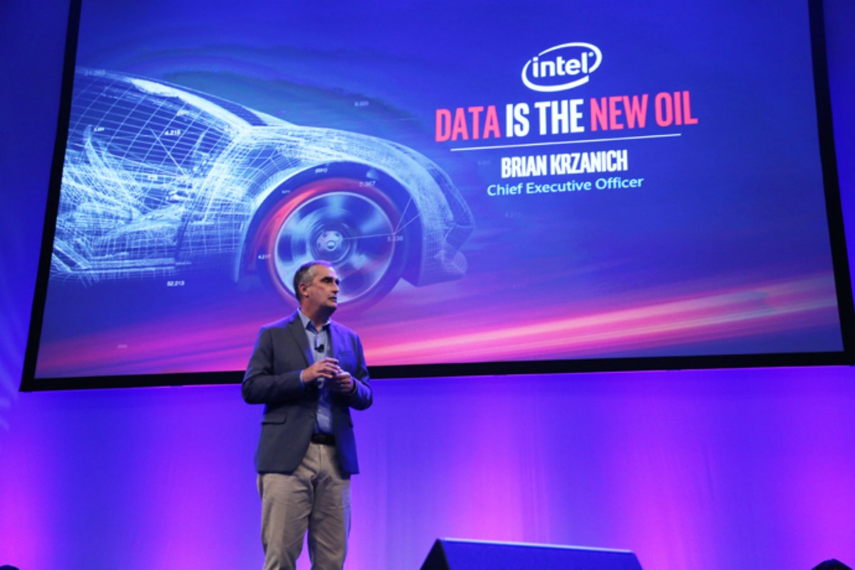"""Krzanich: """"data is truly the new currency of the automotive world"""""""
