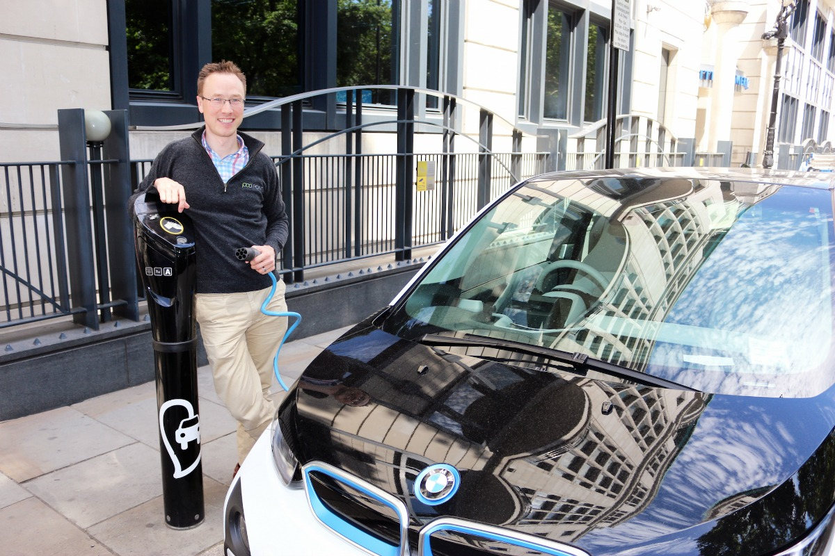 """""""The way people use cars is changing,"""" says POD Point CEO, Erik Fairbairn"""