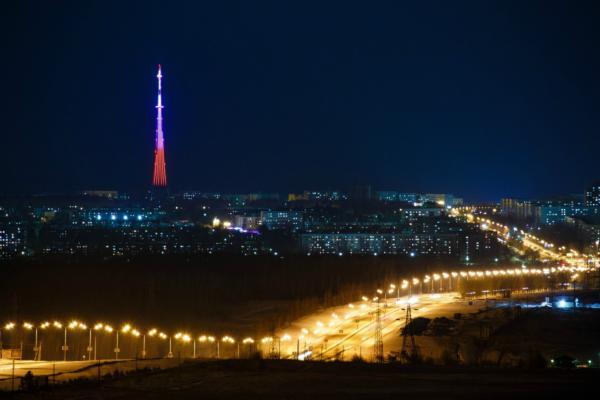Rocket lights ups Nizhnekamsk night sky