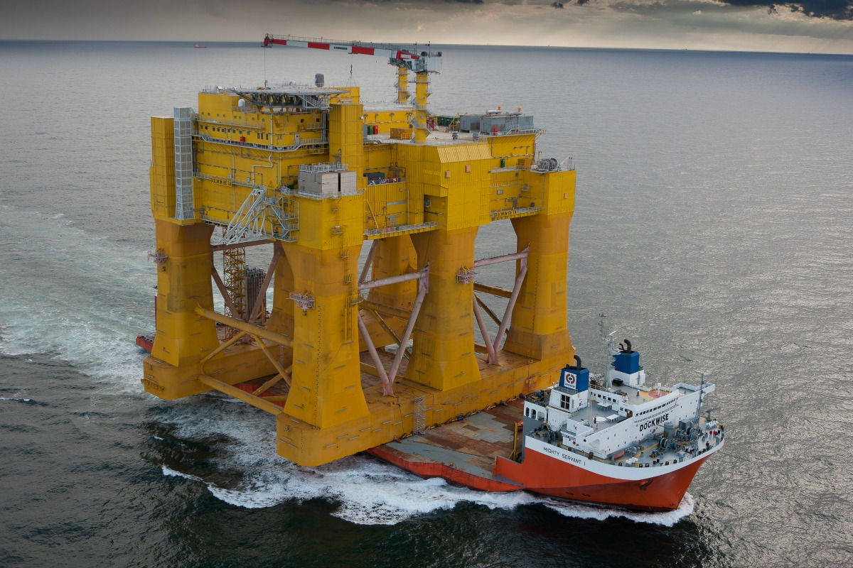 The DolWin2 offshore converter is delivered for TenneT in Germany's North Sea