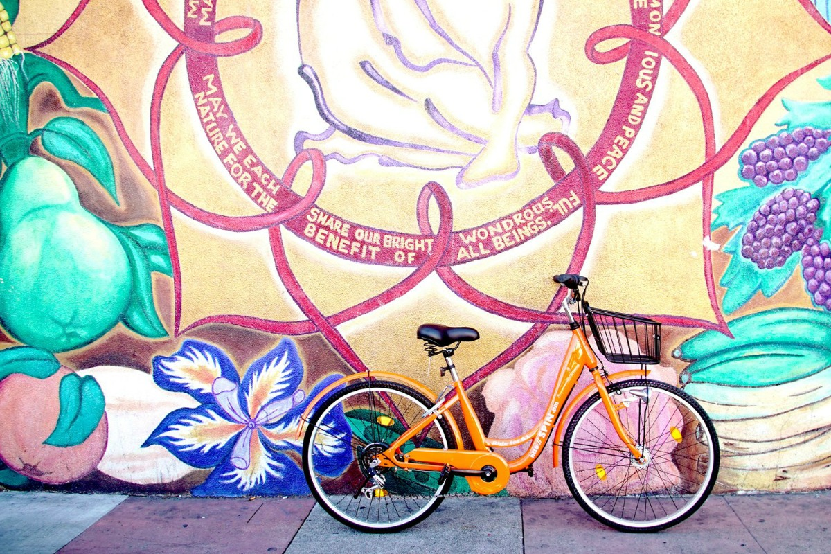 Spin's orange-colured smart bikes can be located via a Spin app