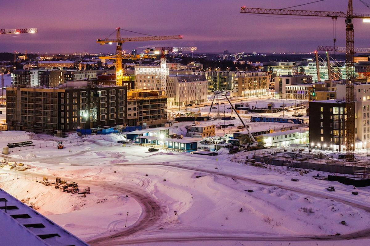 New Helsinki under construction in the Jätkäsaari district. Photo: Antti Pulkkinen/City of Helsinki