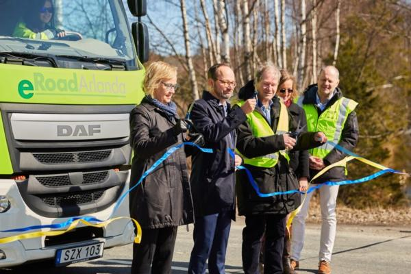 Sweden inaugurates electrified road