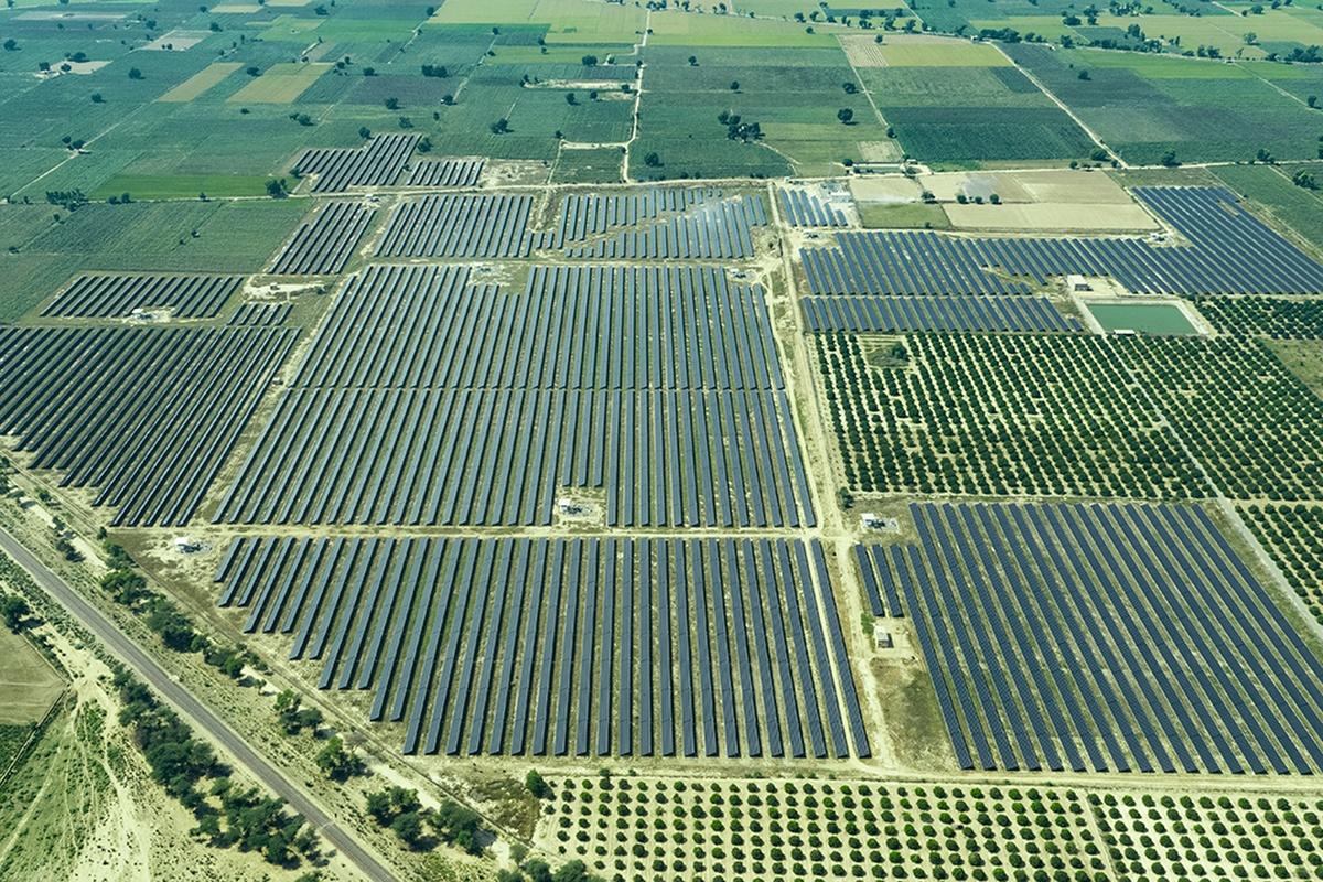 The Azure Power solar plant in Andhra Pradesh