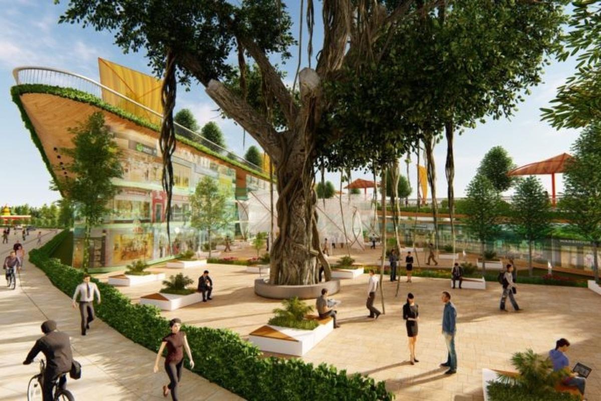 Conceptual view of the Pimpri Chinchwad smart city