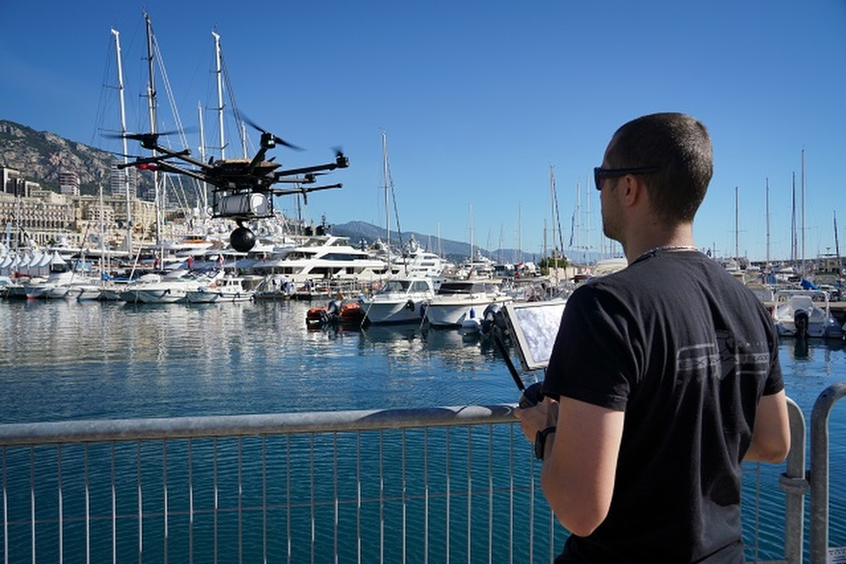 The 5G connected UAV broadcasts live 360-degree HD footage