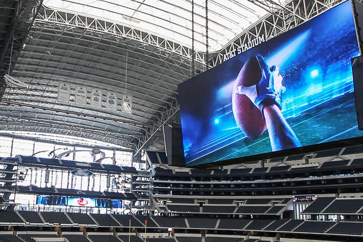 The AT&T Stadium in Arlington, Texas