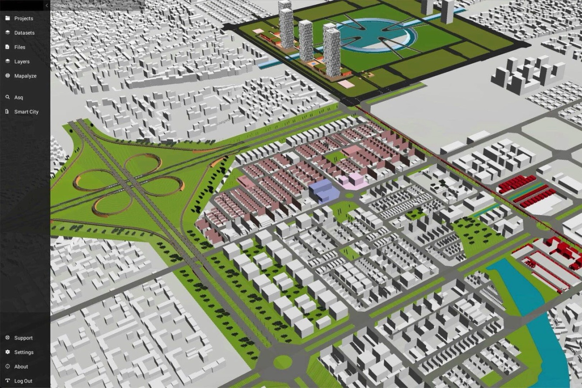 The digital twin of Amaravati, a smart city being built in India