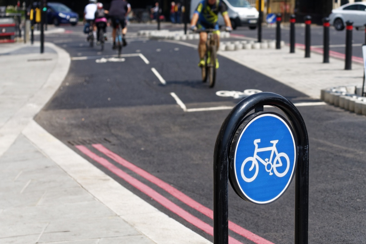 One of Transport for London's cycling superhighways