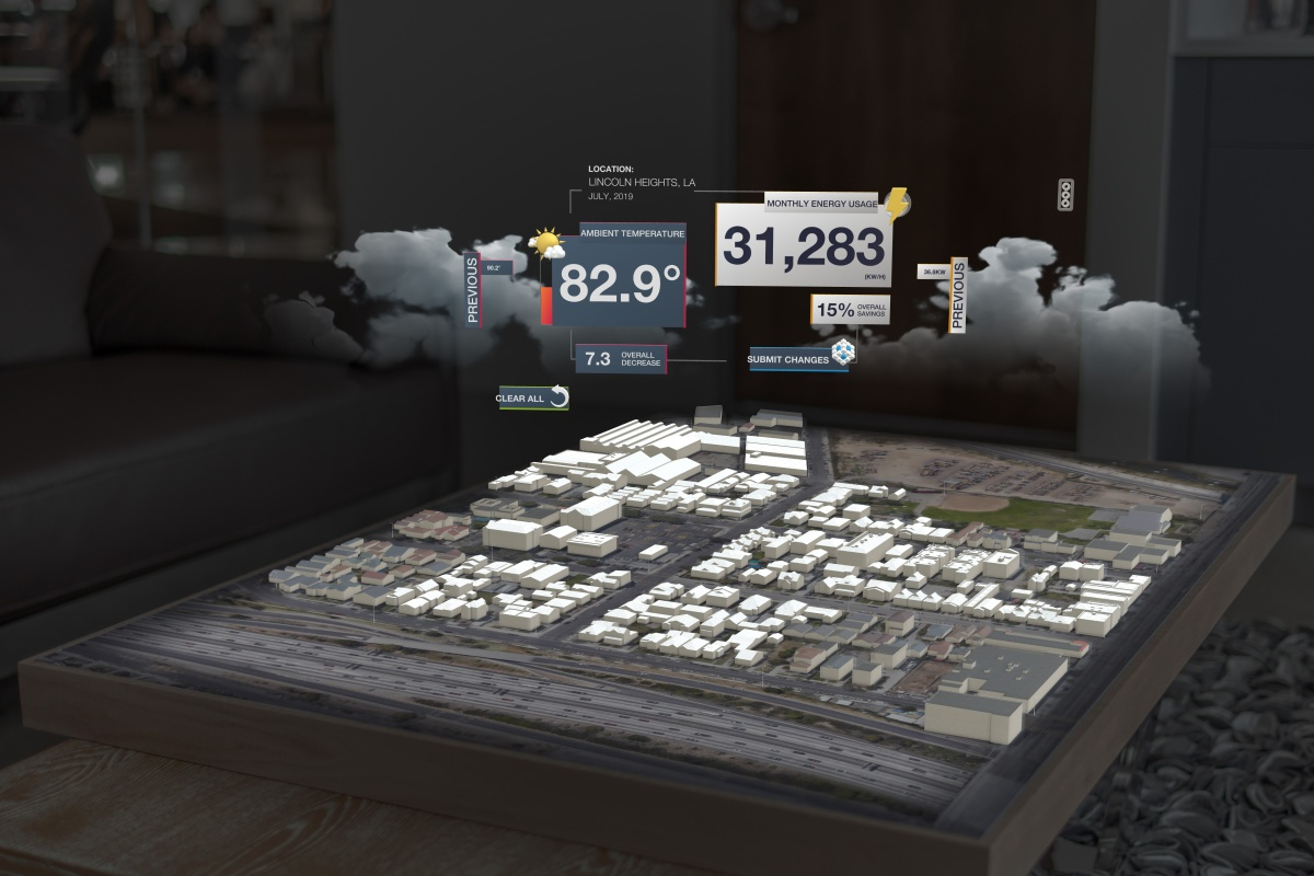 A virtualisation of LA by Microsoft Azure and Itron, which can be seen as CES 2019