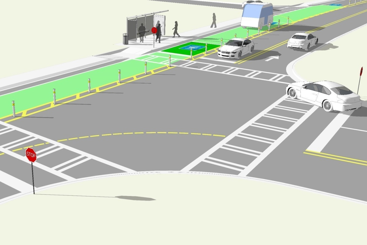 Visualisation of the Peachtree Corners test track. Photo: PRNewsfoto/Sprint