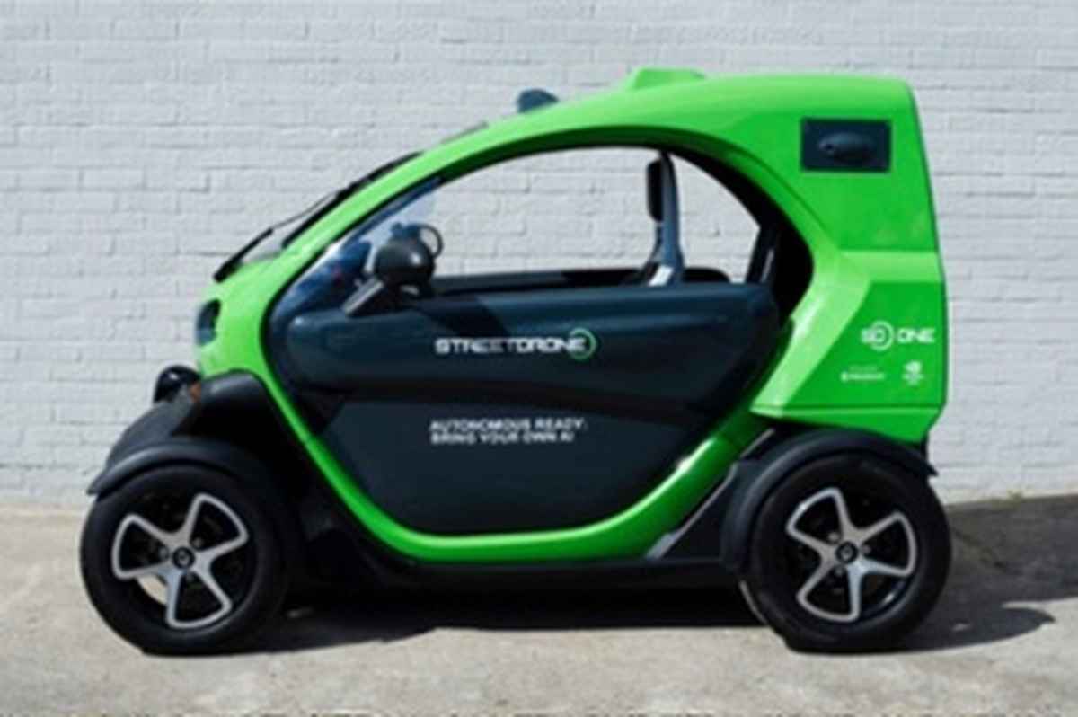The Twizy is StreetDrone's first vehicle conversion and is fitted with XenOS