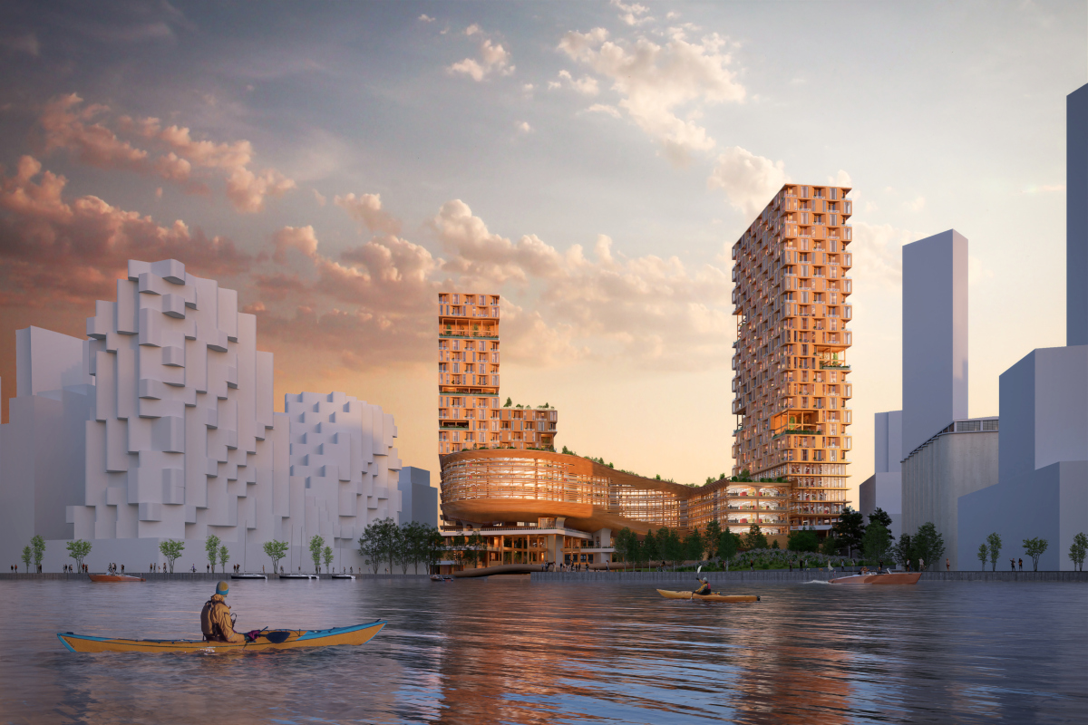 Exterior of the Waterfront buildings. Picture courtesy: Snohetta