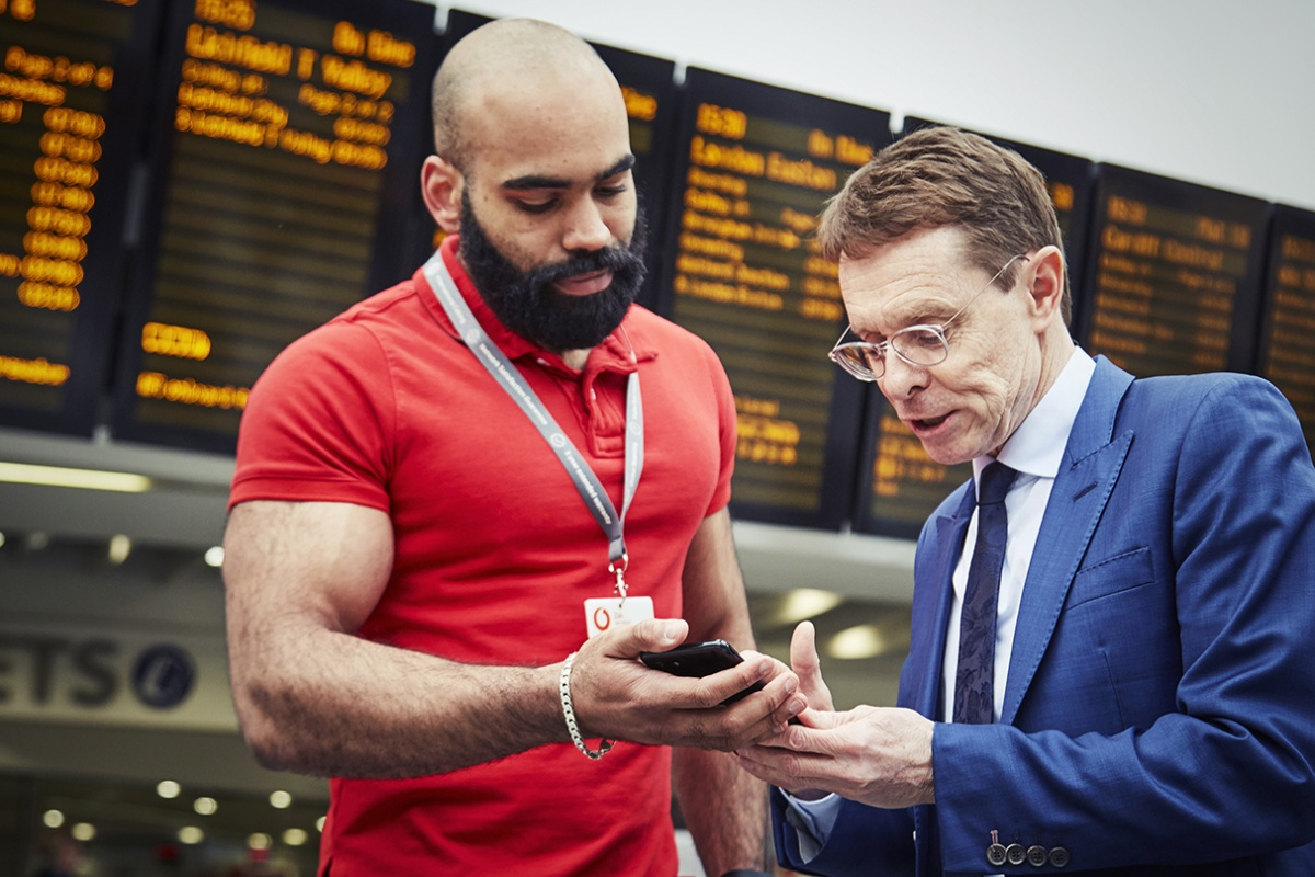 West Midlands mayor, Andy Street (right), was among the first to use the 5G service