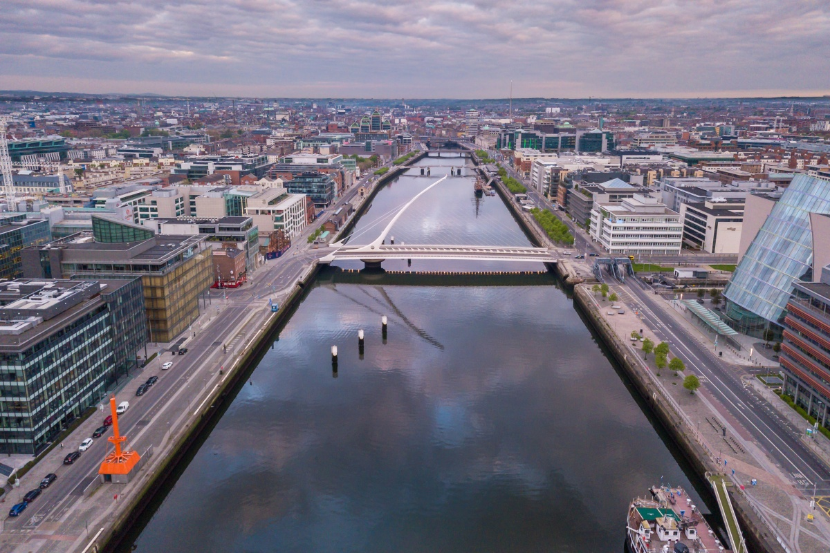 Forty four per cent of Ireland's urban population lives in Dublin.