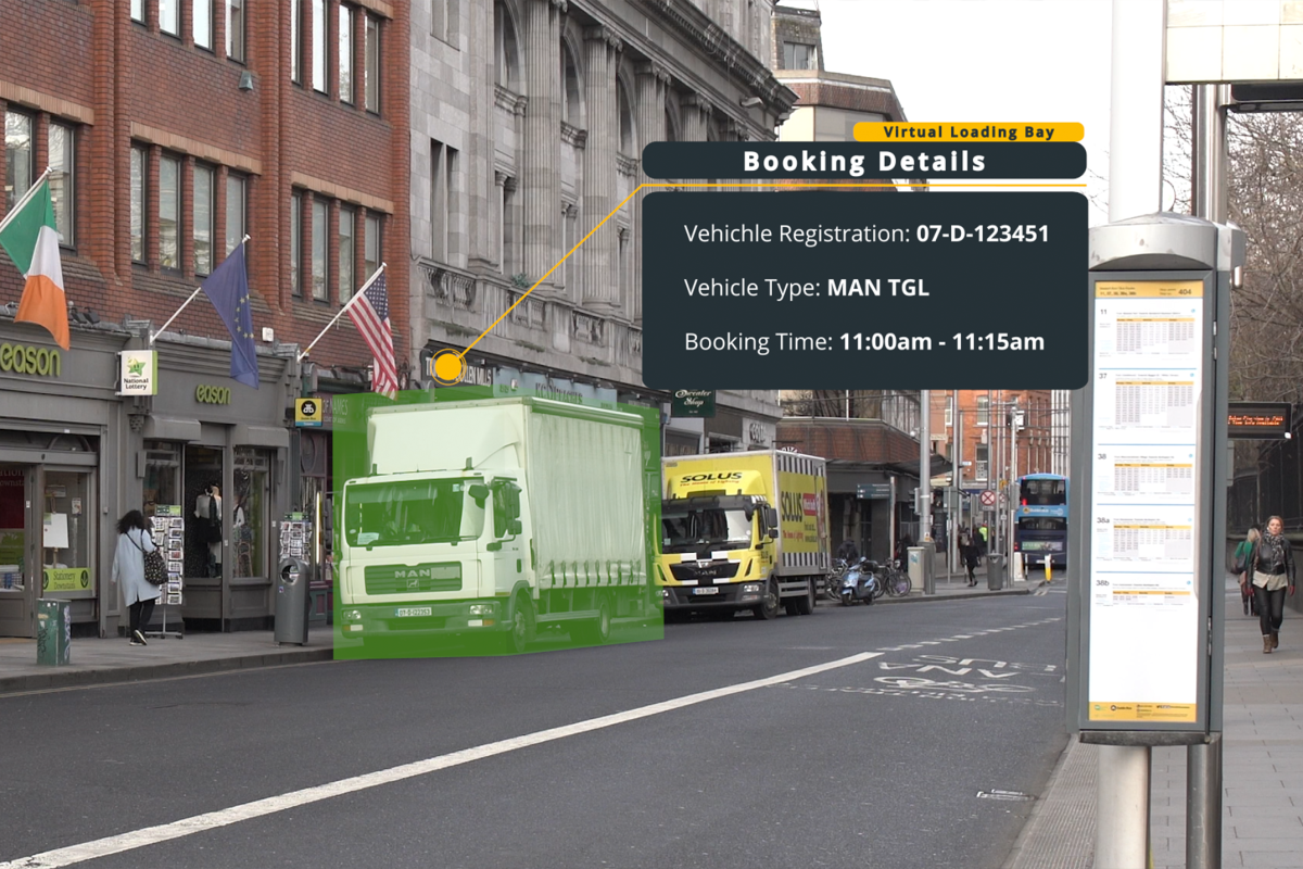 The Kerb app allows commercial vehicles to book virtual loading bays