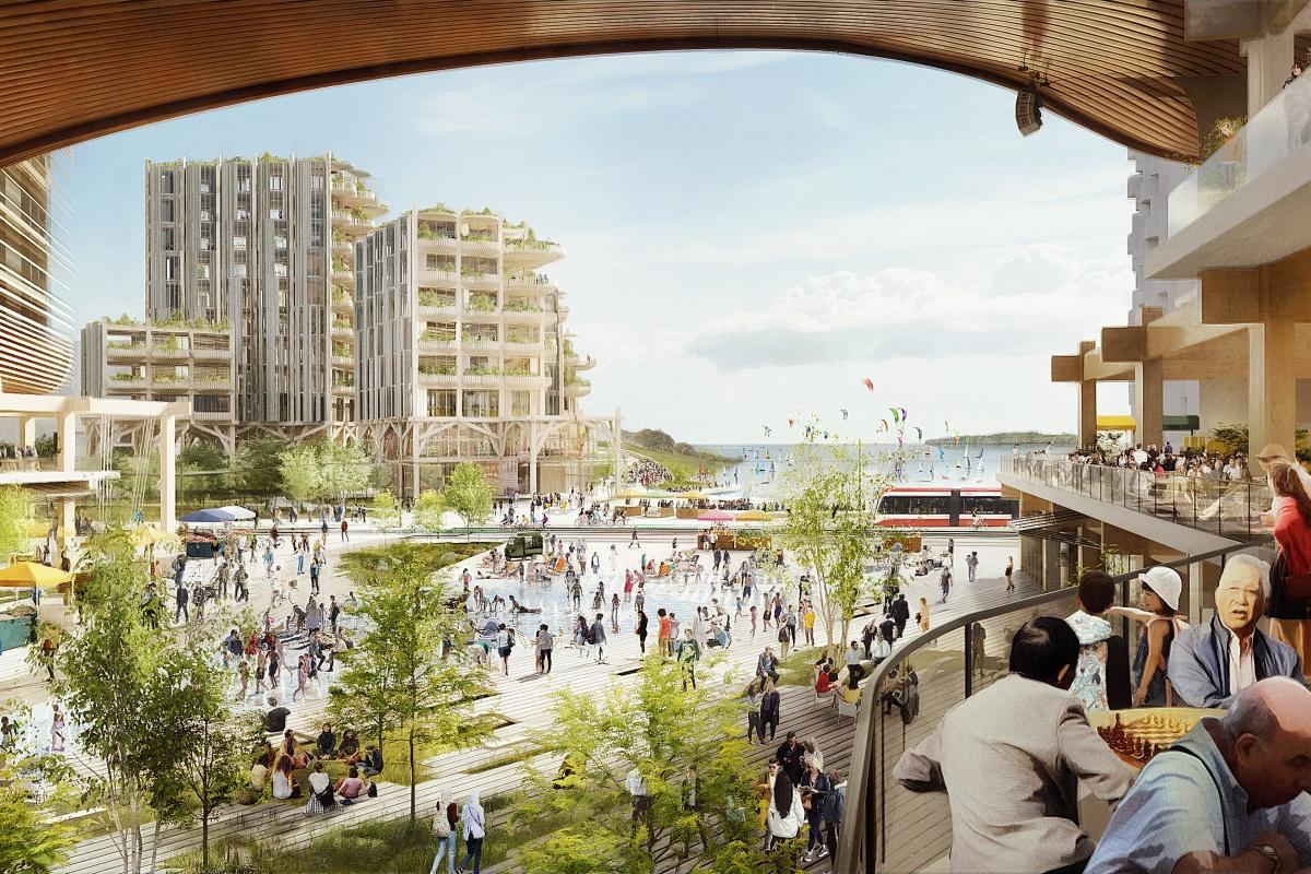 Artist's impression of the Sidewalk Labs development in Toronto