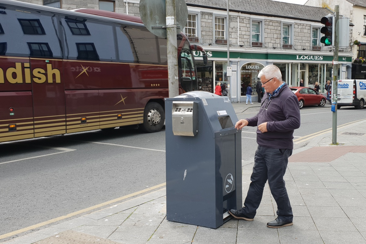 The solar-powered bins are equipped with sensor and communications technologies