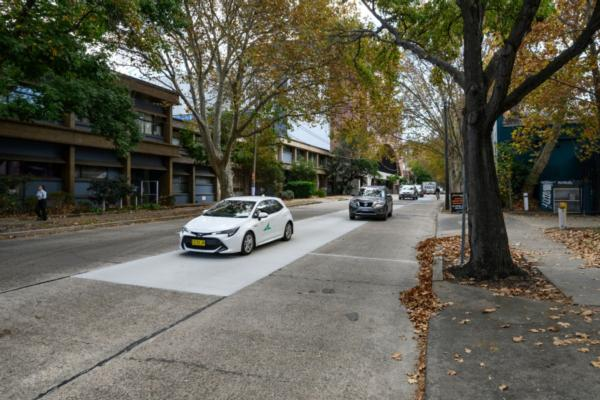 Sydney stages first trial of green road