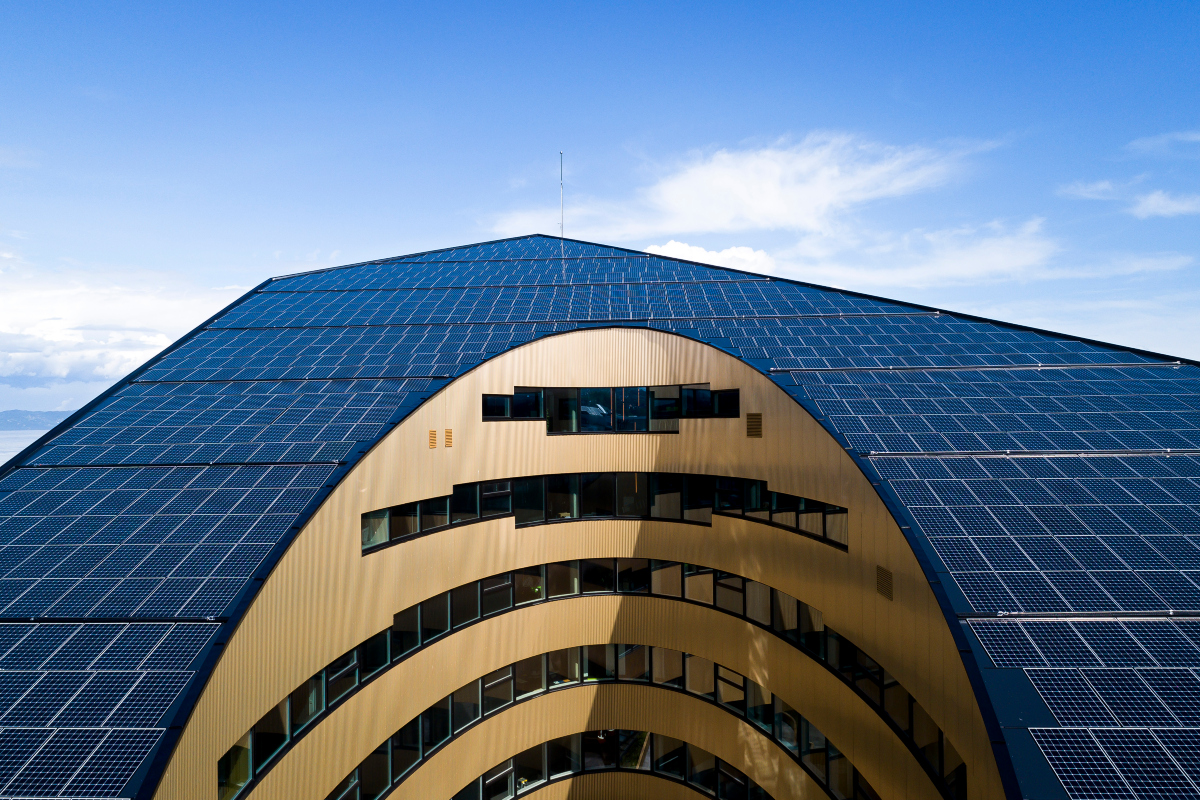 The building employs a concept called liquid light to reduce energy Copyright: Synlig.no