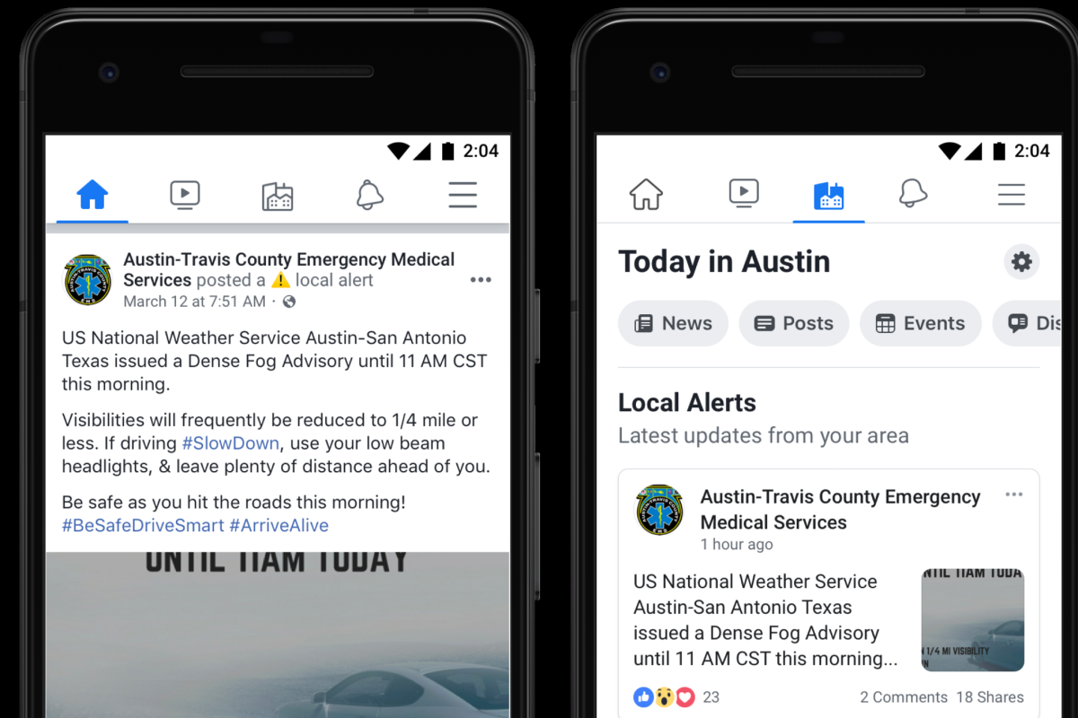 The tool can alert people to take action when something happens in their community