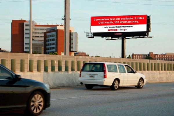 Pro-bono partnership helps share Covid-19 messages via digital screens