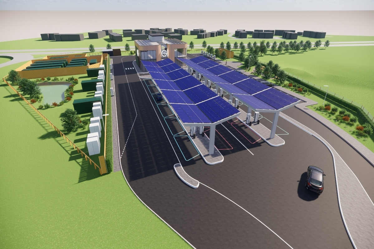The Braintree Electric Forecourt is scheduled to open this summer