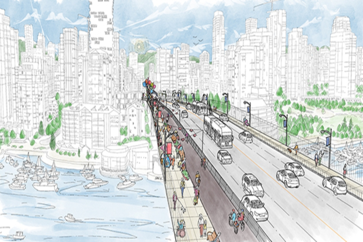 Proposals for the Granville Bridge Connector include wide, accessible sidewalks