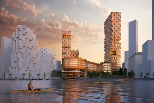 Sidewalk Labs unveils digital twin and 'Lego' vision for 35-storey timber building