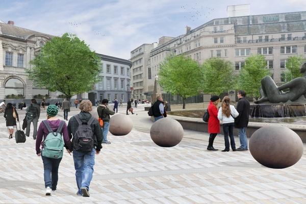 Computer generation of how Victoria Square in Birmingham might look