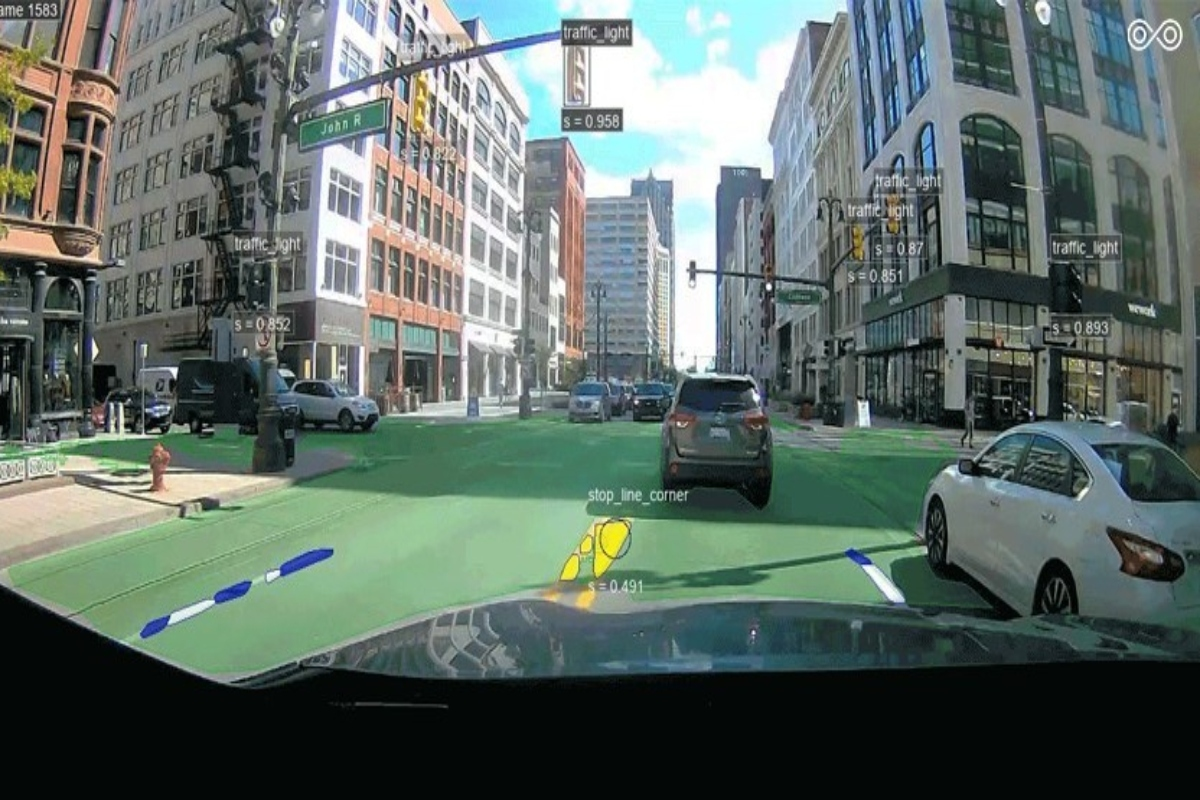 Commercially available dashboard-mounted cameras were used to detect key road features