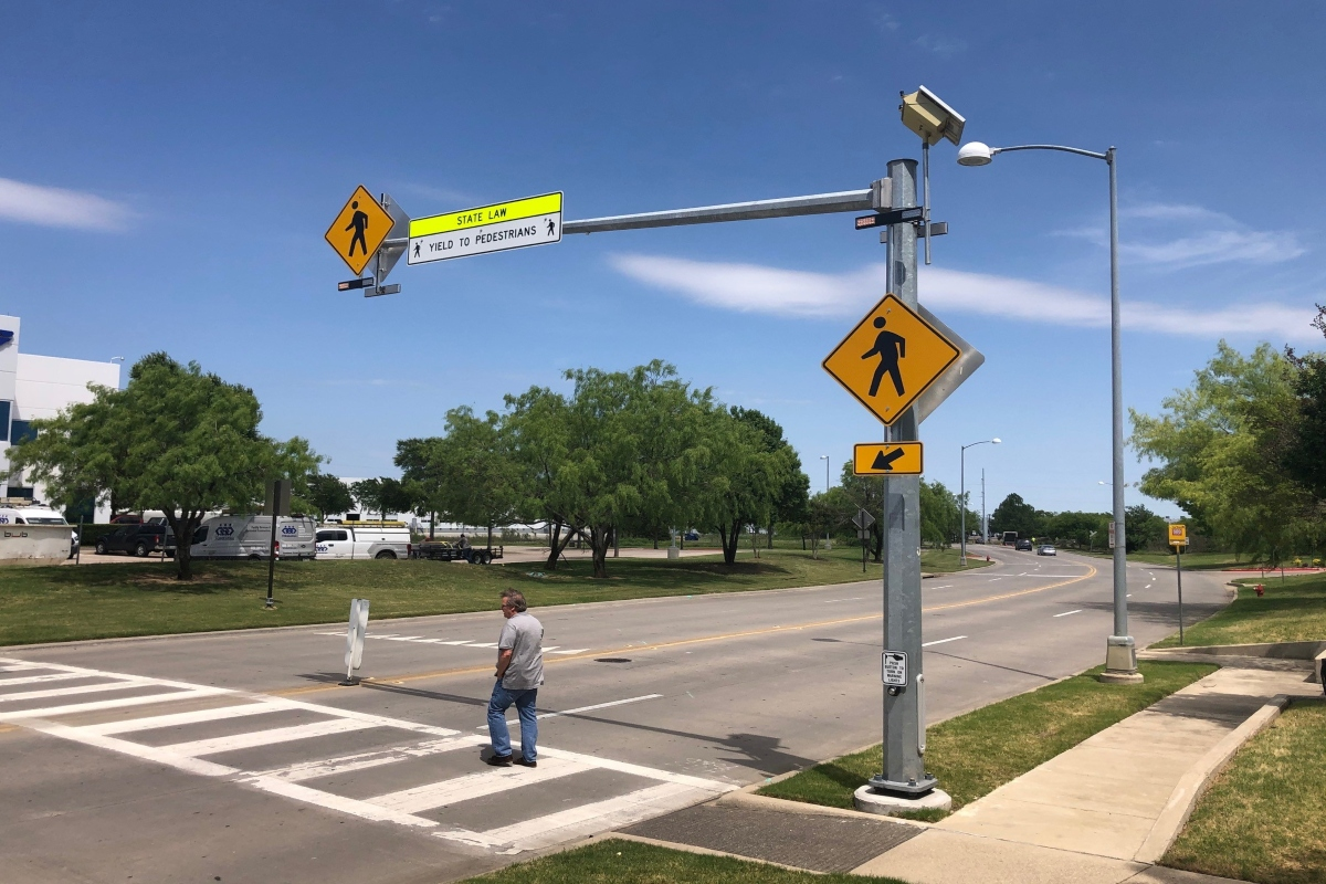 Applied Information's technology aims to improve safety at midblock crossings