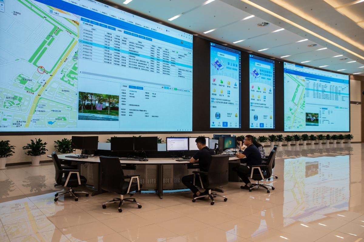 The intelligent Binhai operation and management centre. Photo: Binhai New Area