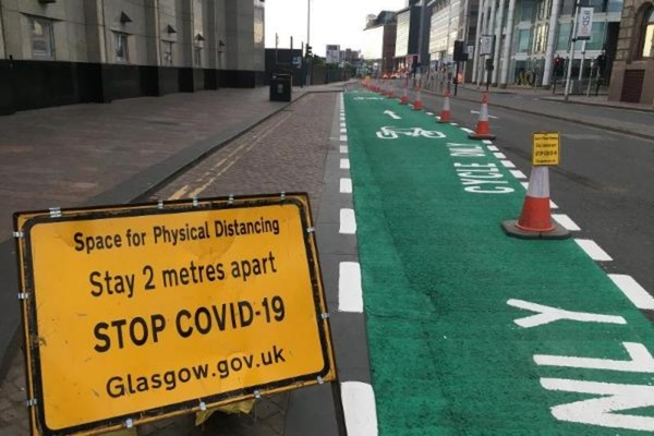 Glasgow's physical distancing initiative receives funding boost from Sustrans