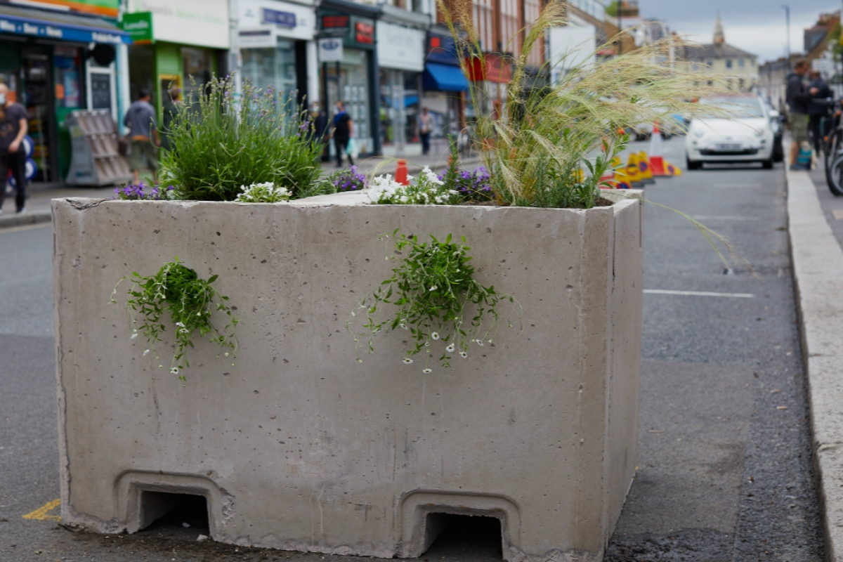 The Concrete Jungle blocks are designed to capture and store rainfall naturally