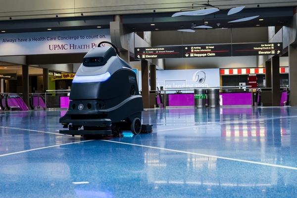 Pittsburgh airport deploys autonomous UV cleaning robots