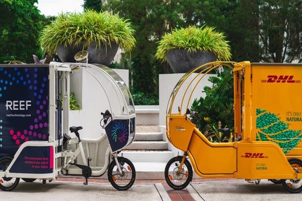 Downtown Miami used for eco-friendly cargo bike pilot