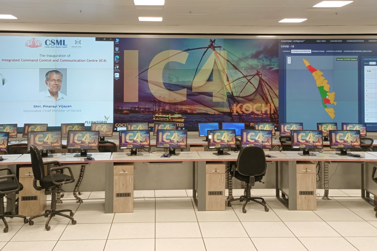 The large video wall enables the city to respond to situations proactively and reactively