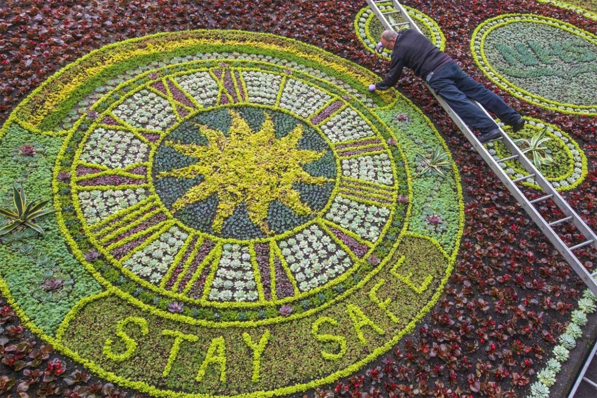 Work on Edinburgh's floral clock has been completed. Image: Edinburgh City Council