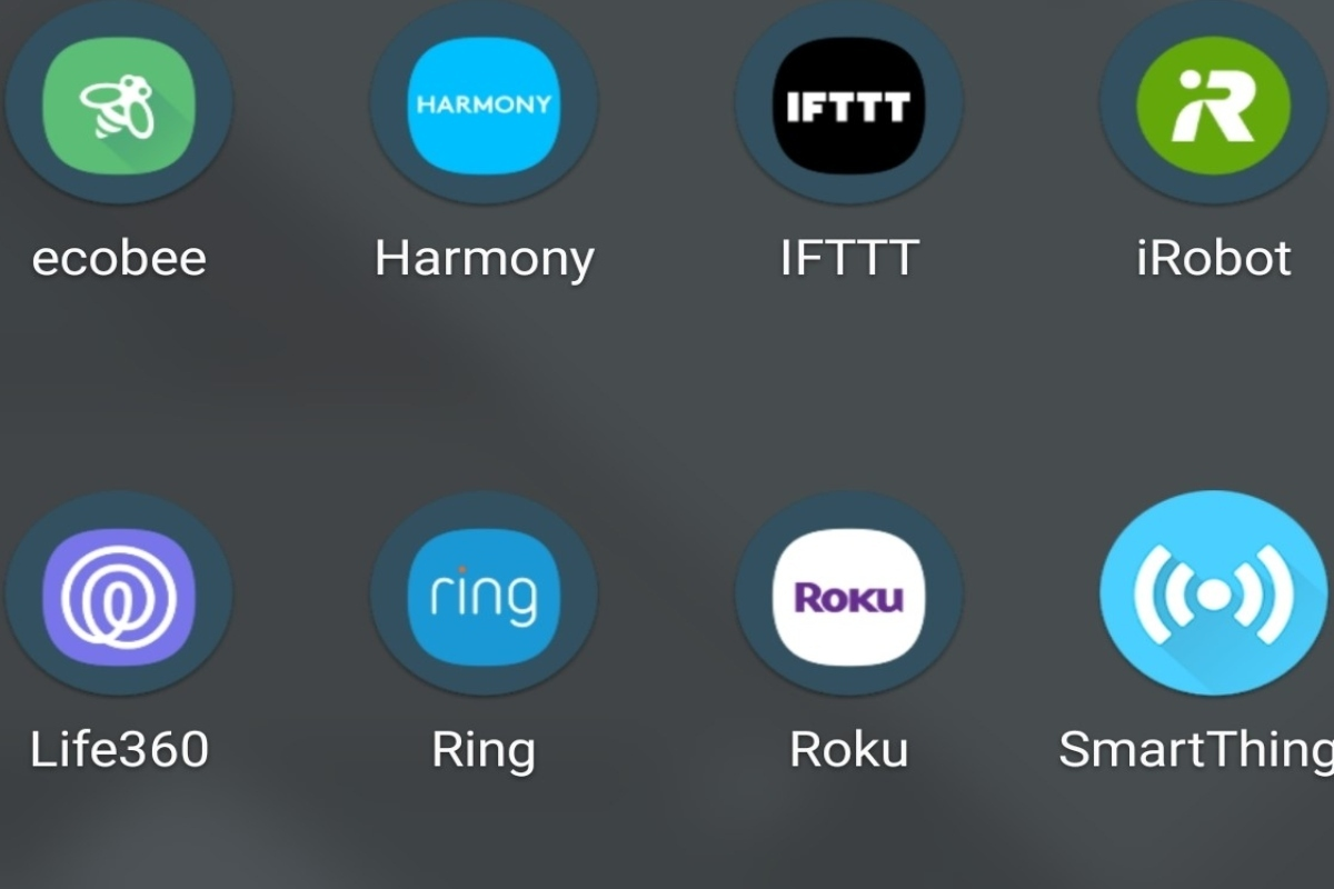 Just some of the apps required to run a smart home