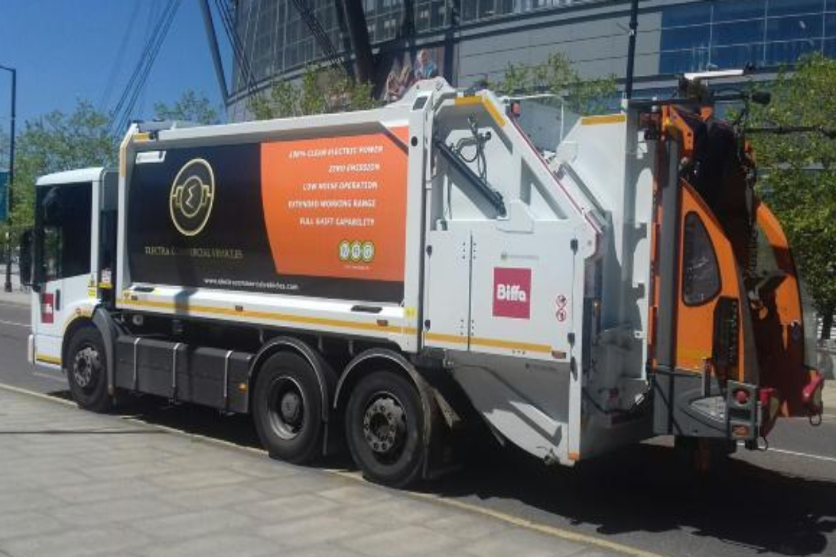 The electric refuse collection vehicles will start operating in Manchester in the autumn