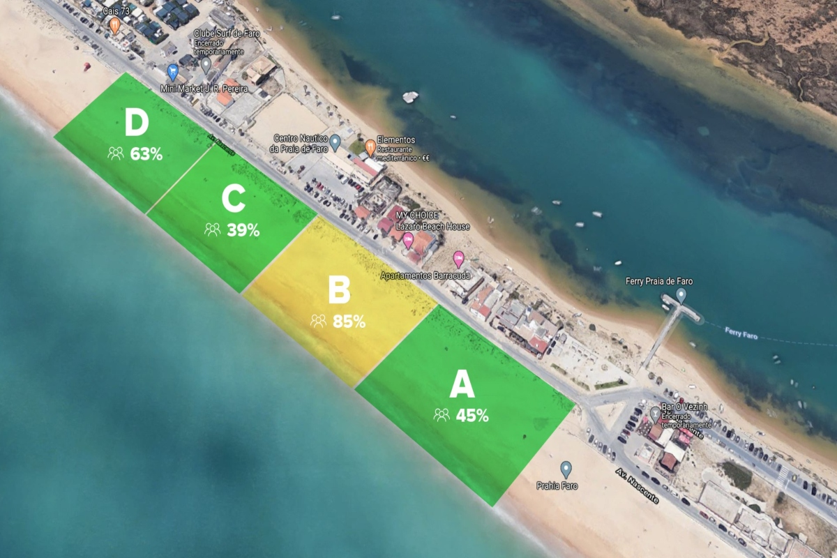Omniflow uses smart pole and AI technology to try to prevent overcrowded beaches