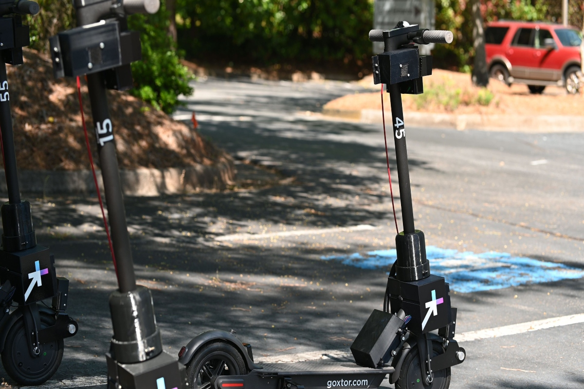 The Go X e-scooters are fitted with a remote repositioning system