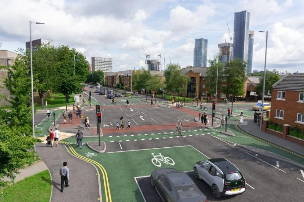 CGI of the Cyclops junction at Royce Road, which aims to improve safety for all road users