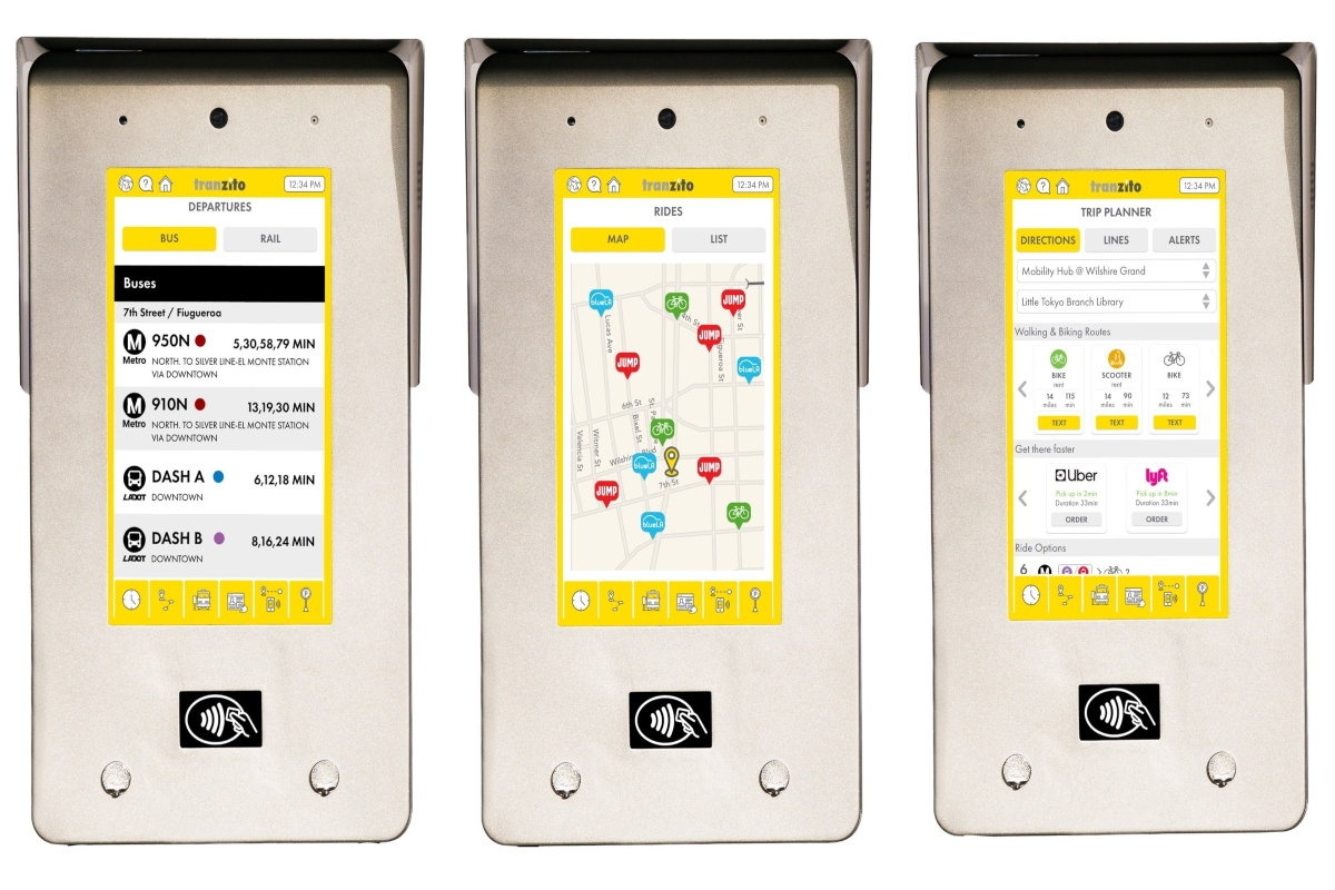 Mobi kiosks with Moovit integration enable trip-planning without a phone