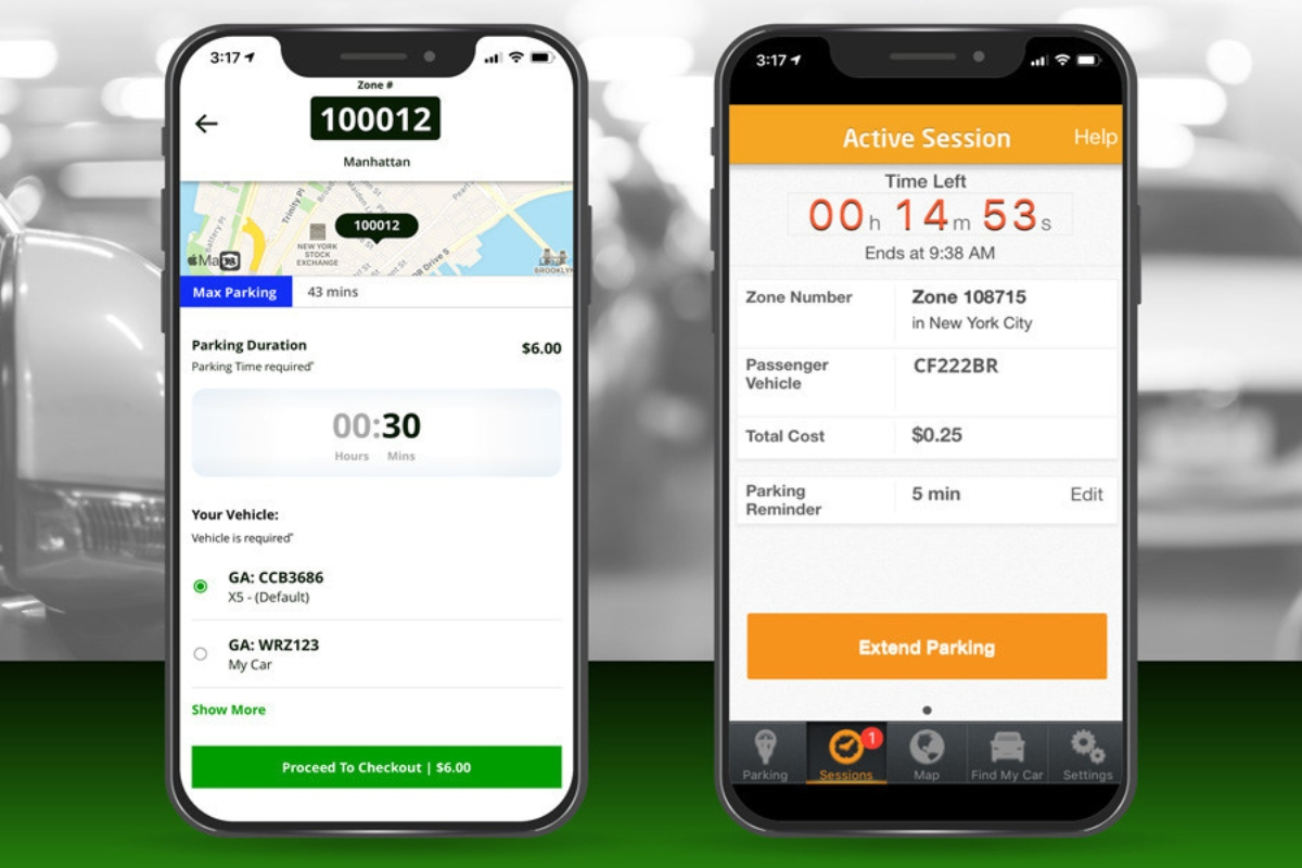 The ParkMobile app has been made available alongside the city's current ParkNYC app