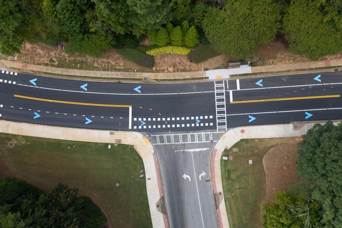 The autonomous vehicle test track at Peachtree Corners